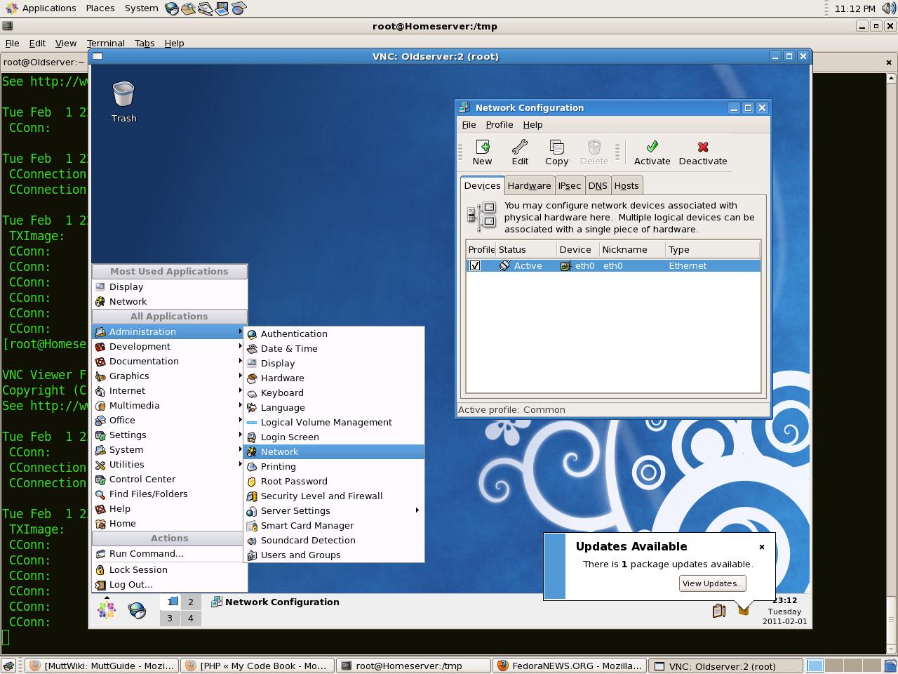 How to setup vnc-server on Centos 5 x / Fedora 11 | Tournas
