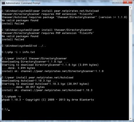 installing phpab on wamp